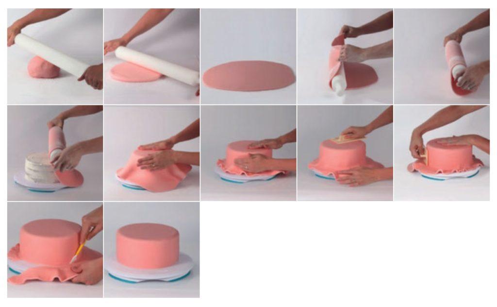 Como utilizar pasta de açúcar